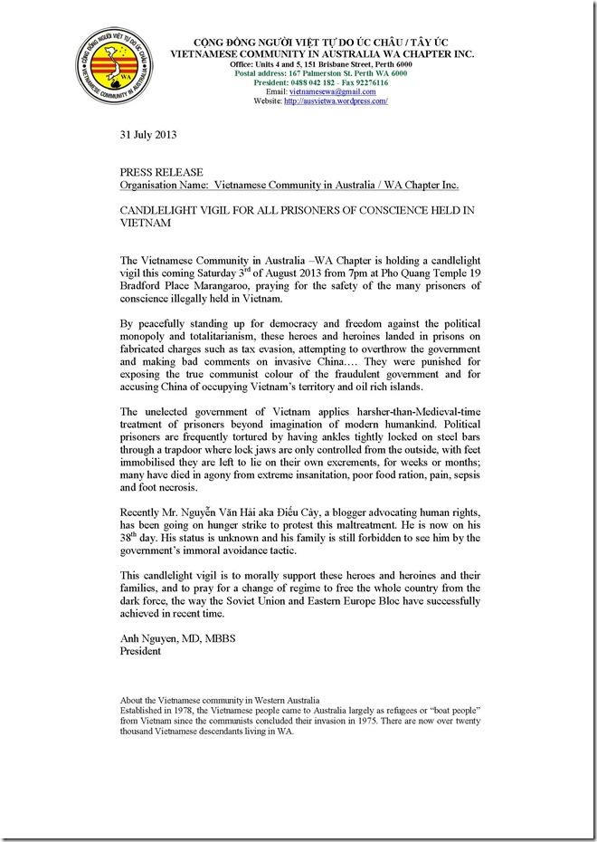 Press Release 8.2013