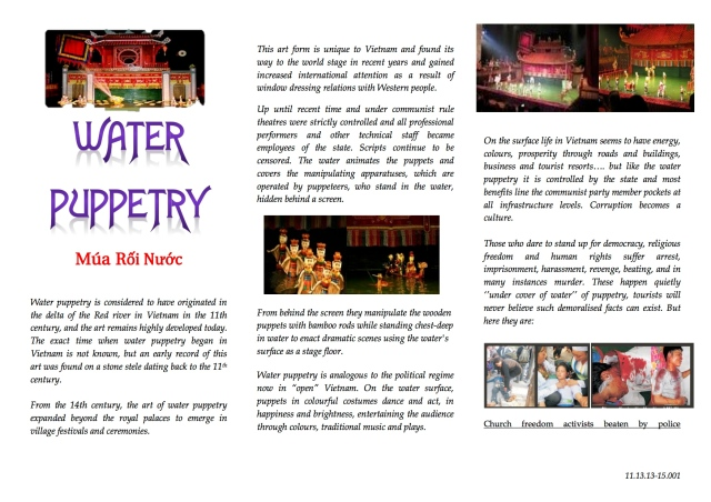 WATER PUPPET flyers
